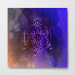 Message from Metatron Metal Print