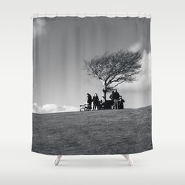 at the meeting place... Shower Curtain