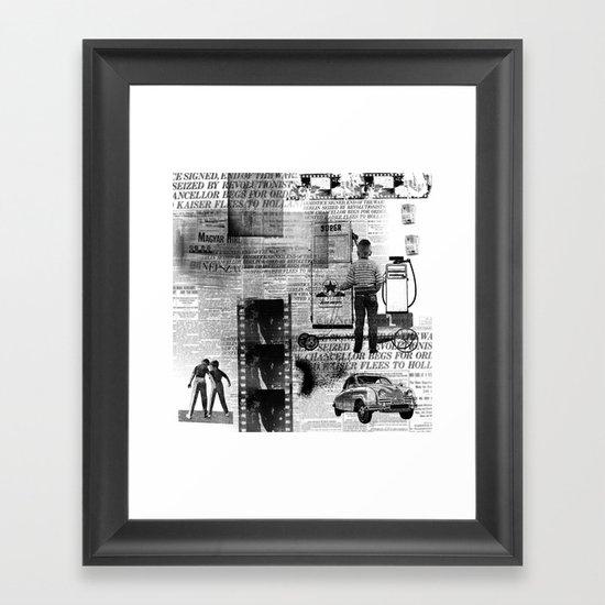 paper billy cart Framed Art Print