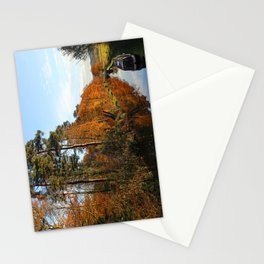 Trees by the Canal in the Fall Stationery Cards