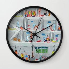 Bad Painting 3 Wall Clock