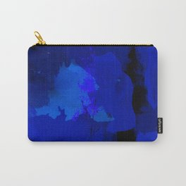 Night blue strokes Dark blue and black abstract painting B01YK Carry-All Pouch