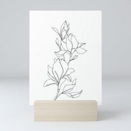 Botanical illustration line drawing - Magnolia Mini Art Print
