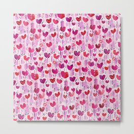 Tulip Hearts Metal Print