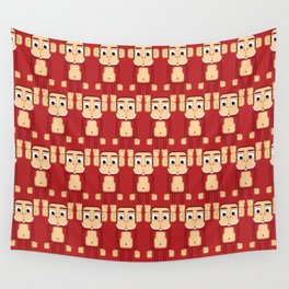 Super cute animals - Cheeky Red Monkey Wall Tapestry