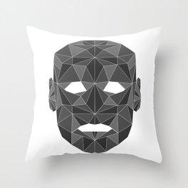 lowpolycyberhuman Throw Pillow