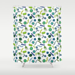 Microbiology - Color Shower Curtain