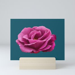 Rhapsody in Blue Rose Mini Art Print