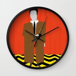 A damn fine cup of coffee Wall Clock