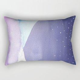 Snowy Landscape Abstract Rectangular Pillow
