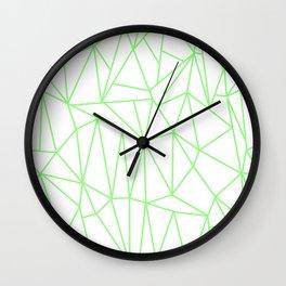 Geometric Cobweb (Light Green & White Pattern) Wall Clock