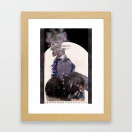 Smoking Lady Framed Art Print