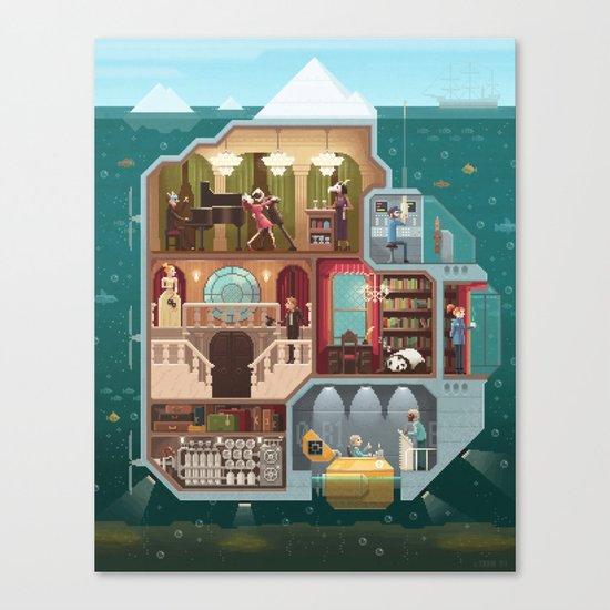 Scene #05: 'The tip of the iceberg' Canvas Print