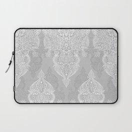 Lace & Shadows 2 - Monochrome Moroccan doodle Laptop Sleeve
