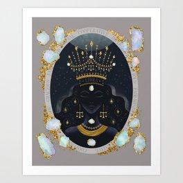 Libra Zodiac Queen   October Birthday   Opal Birthstone Art Print