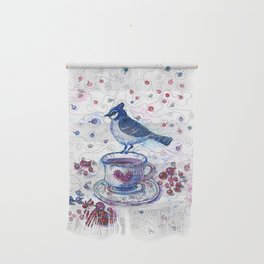 Winter Tea (Ble Jay) Wall Hanging