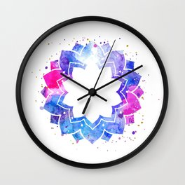 Star flower mandala Wall Clock