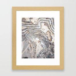 Marble cave Framed Art Print
