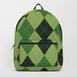 Argyle greens Backpack