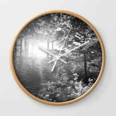 Sundown in the Forest Wall Clock