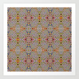 Rites of Spring Ornate Pattern Art Print