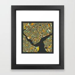 ISTANBUL MAP Framed Art Print