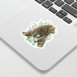 bear sitting in the forest Sticker