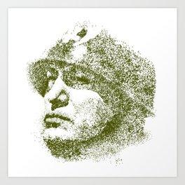 Mussolini For President Art Print