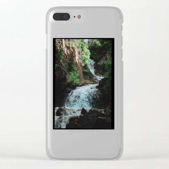 Alaska Waterfall Clear iPhone Case