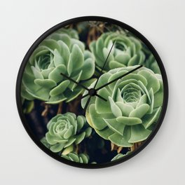 Green Succulent Photo Wall Clock