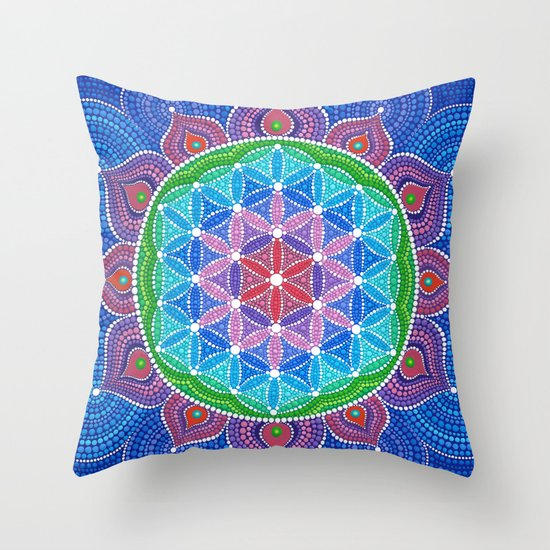 Lotus Flower of Life Throw Pillow by Elspeth McLean Society6