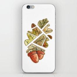 Oak leaf and acorns iPhone Skin