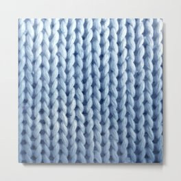 knitwit: baby blue Metal Print