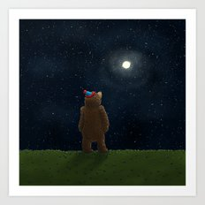 Starry Night Novembear Art Print