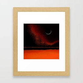 March New Moon Framed Art Print