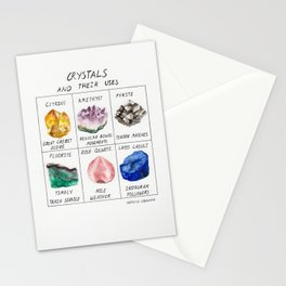 Crystals and their uses Stationery Cards
