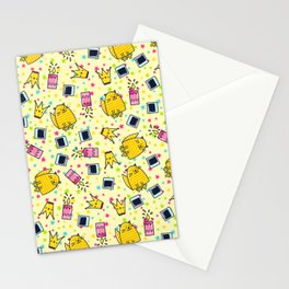 Cute Funny Happy Smiling Cat Pattern Stationery Cards