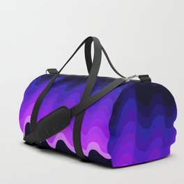 Ultraviolet Retro Ripple Duffle Bag