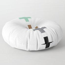 ABSTRACT PLUS POSTIVE SYMBOLS GEOMETRY Floor Pillow