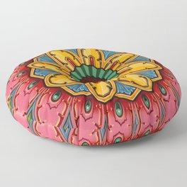 Indian Mandala Flower Floor Pillow