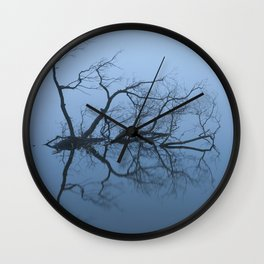 Branches In A Misty Lake Wall Clock