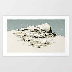 Landscape with snow Art Print