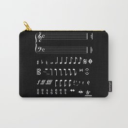 Musical Notation Negative Carry-All Pouch