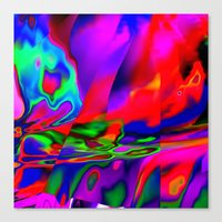 cracked Canvas Prints featuring Cracked by David  Gough