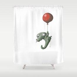 Crocodile in Trouble Shower Curtain