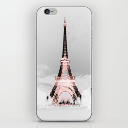 pariS Black & White + Pink copyright 2sweet4wordsDesigns iPhone Skin