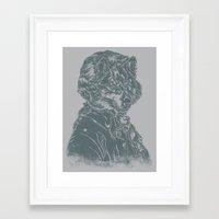 mozart Framed Art Prints featuring Wolf Amadeus Mozart by Joshua Kemble