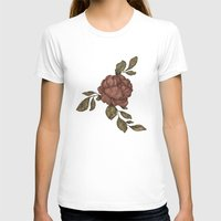 rose T-shirts featuring Rose by Jessica Roux