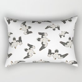 Birds Pattern Photo Collage Rectangular Pillow