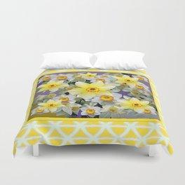 Decorative  Daffodils Spring Flower Garden Yellow Art Duvet Cover